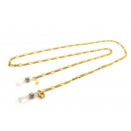 Цепочка для очков комбинированное плетение 64см золото